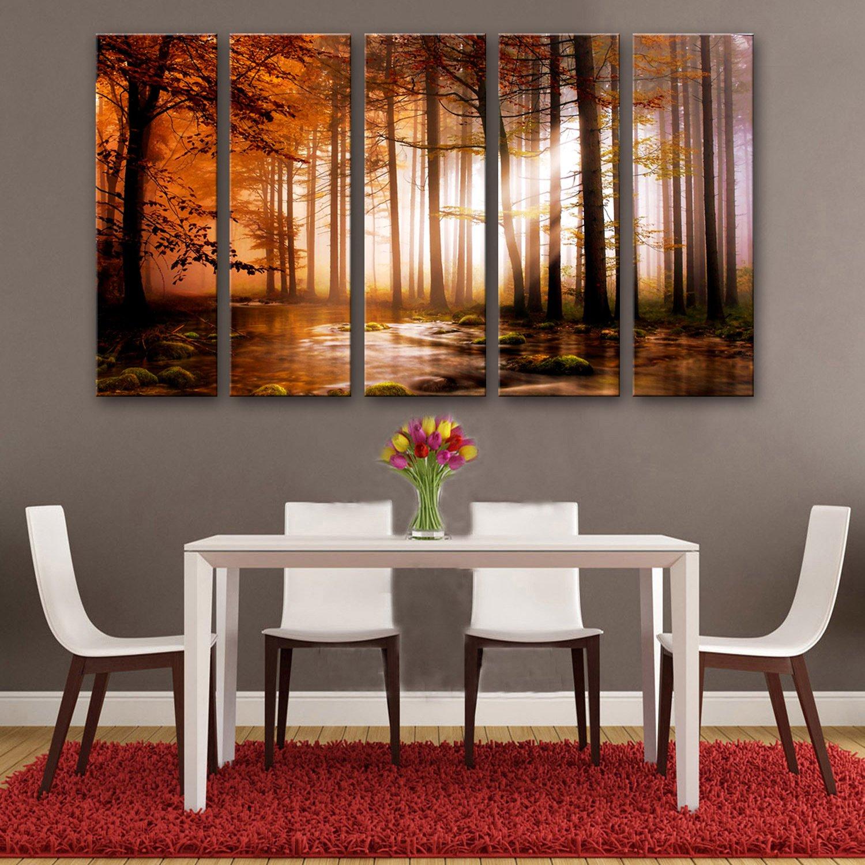 WG 5PCS Dschungel dekorative Malerei, Rahmenlos Gemälde, dekorative Malerei Das Wohnzimmer Flur, 30  90  5 B07KN3PTBF  | Verrückter Preis, Birmingham
