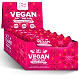 Tom Oliver Nutrition - Vegan High Protein Bars - Pack of 20 (Chocolate Raspberry)