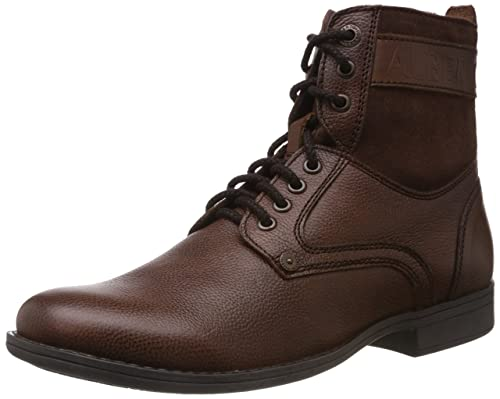 ab477b10b9a14 Alberto Torresi Men s Mid Brown and Partidge Leather Boots - 11 UK  Buy  Online at Low Prices in India - Amazon.in