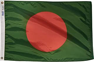 product image for Annin Flagmakers Model 190562 Bangladesh Flag Nylon SolarGuard NYL-Glo, 2x3 ft, 100% Made in USA to Official United Nations Design Specifications