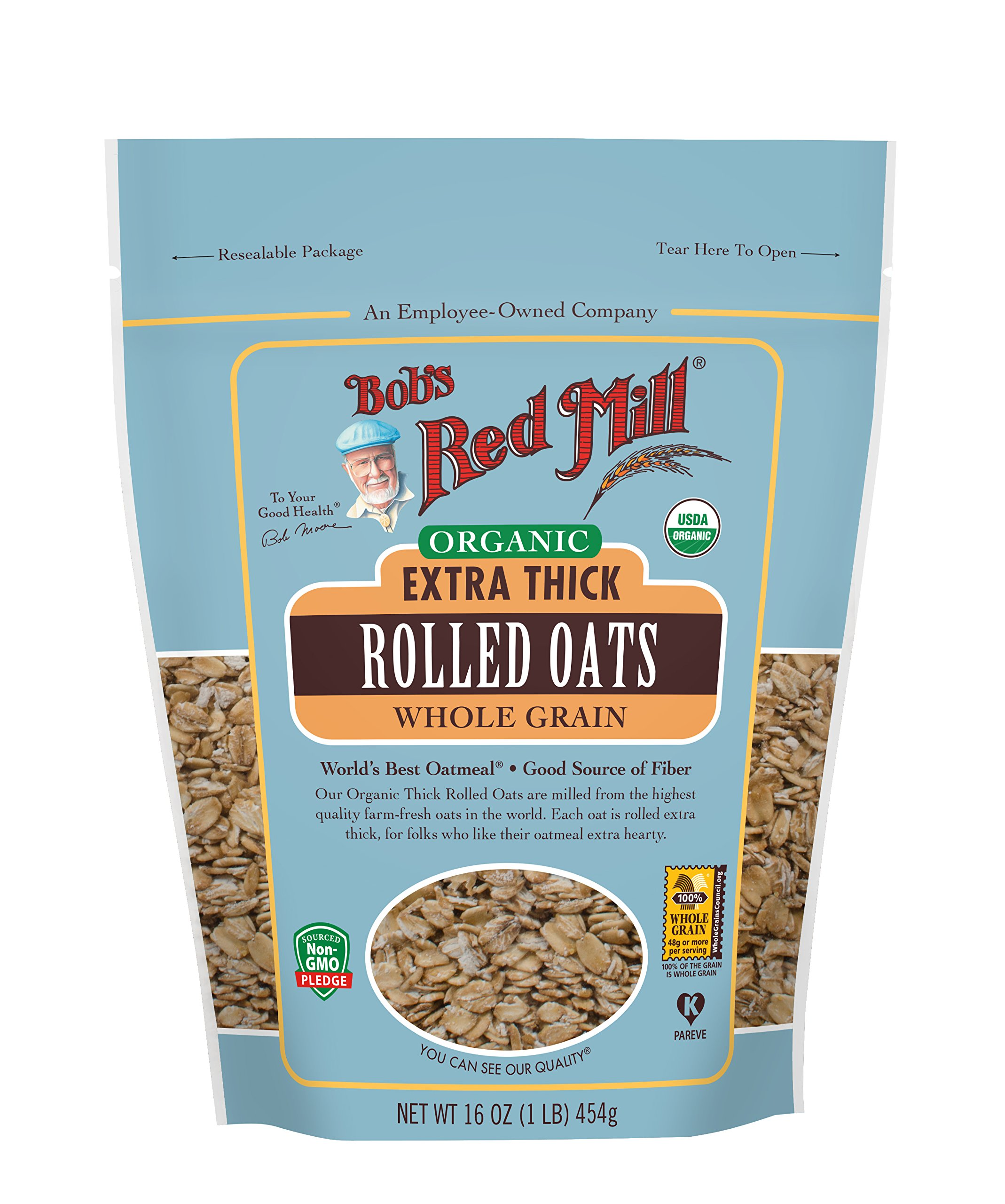 Bob's Red Mill Organic Extra Thick Rolled Oats, 16 Oz