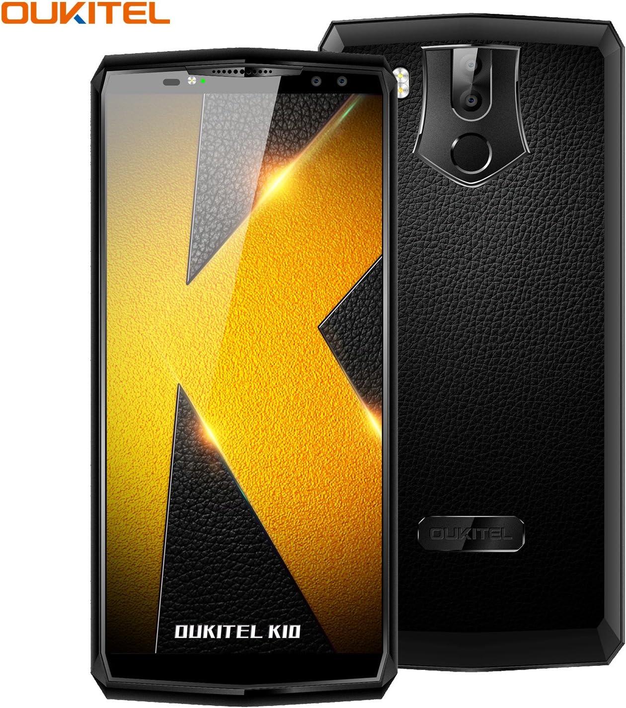Telefonos Moviles, OUKITEL K10 4G Smartphone 6 Pulgadas (18: 9 Relación Visión)  11000mAh Batería Octa Core 6GB RAM 64GB ROM 21MP + 13MP Cámara Face ID NFC Android 7.0 Huella Digital