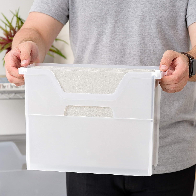 Medium Clear Renewed 6 Pack IRIS Desktop File Box