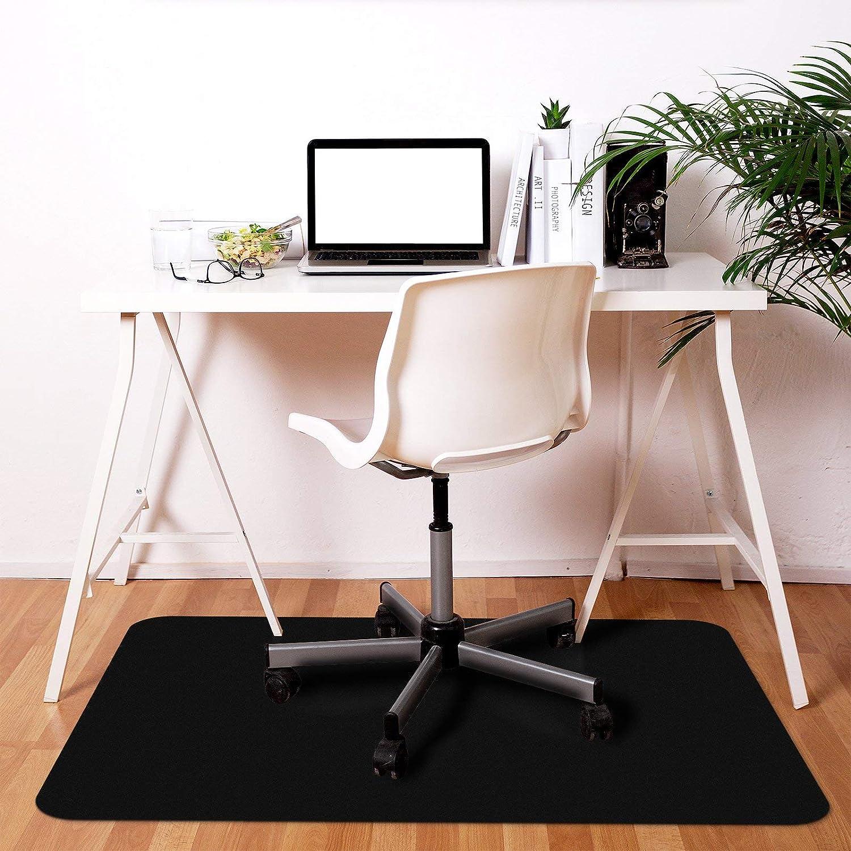 YINN Protector Mat Carpet Floor Mat Rectangle PVC Matte Chair Mat,BPA Free,Non-Slip Table Desk Mat,Anti-Scratch Hard Wood Floor Protection,60x60cm