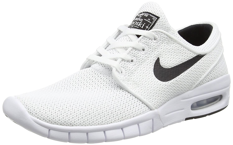 Nike Stefan Janoski Max Unisex-Erwachsene Sneakers  39 EU|Wei? (100 White/Black)