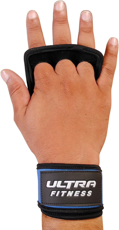 2 en 1 mancuernas agarres de piel con soporte para mu/ñecas mu/ñequera de velcro mu/ñequera y protecci/&oacu Ultra Fitness/® para crossfit mu/ñequera para levantamiento de pesas con cierre de velcro Protectora para manos