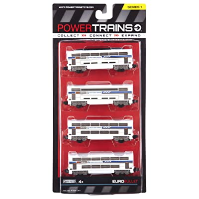 Power City Trains Bullet Classic 4 pack: Toys & Games