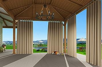Berühmt Clothink Outdoor Vorhänge mit Steckverschluss 132x215cm Beige JD57