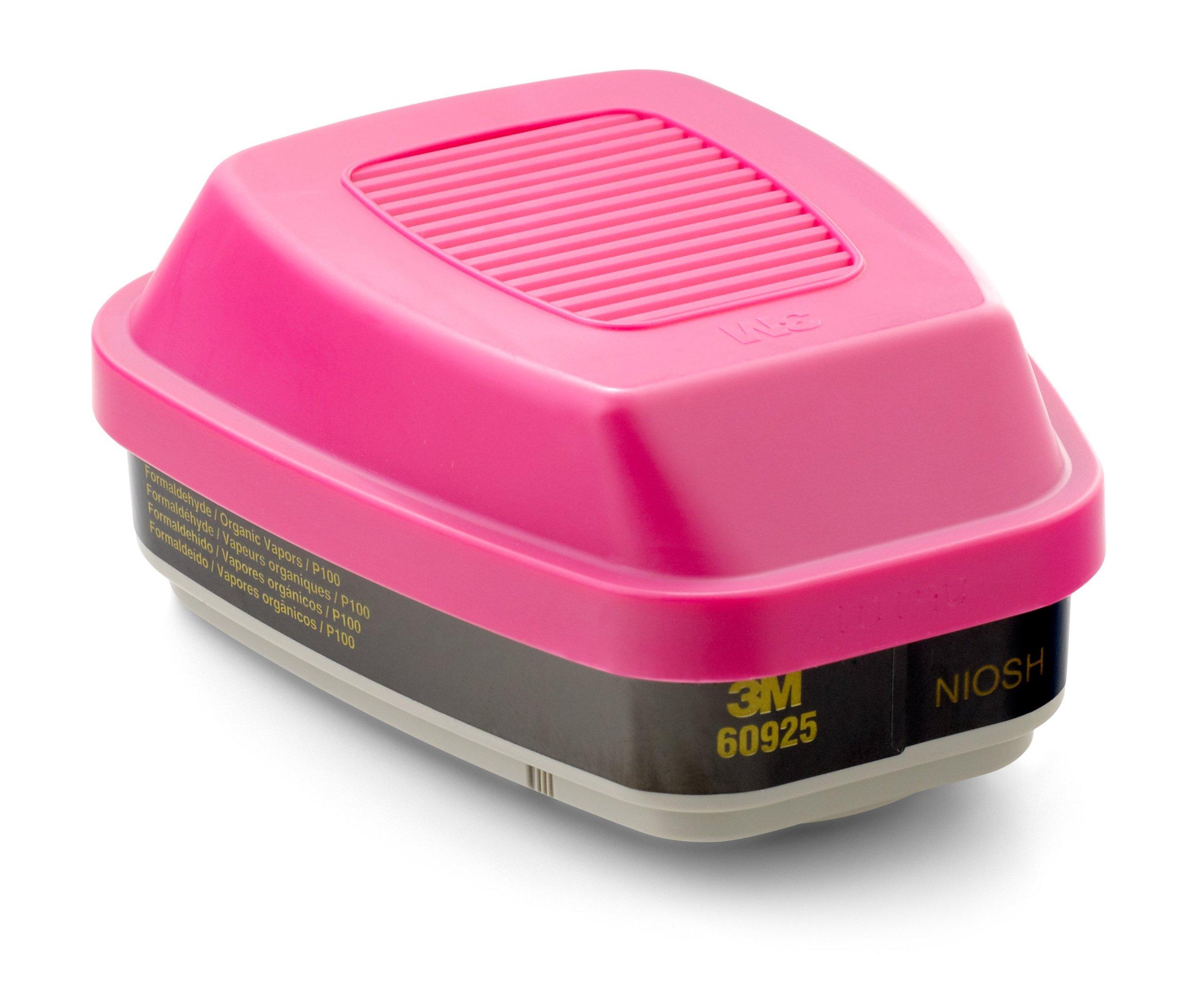 3M Formaldehyde Organic Vapor Cartridge/Filter 60925, P100 Respiratory Protection (Pack of 2)