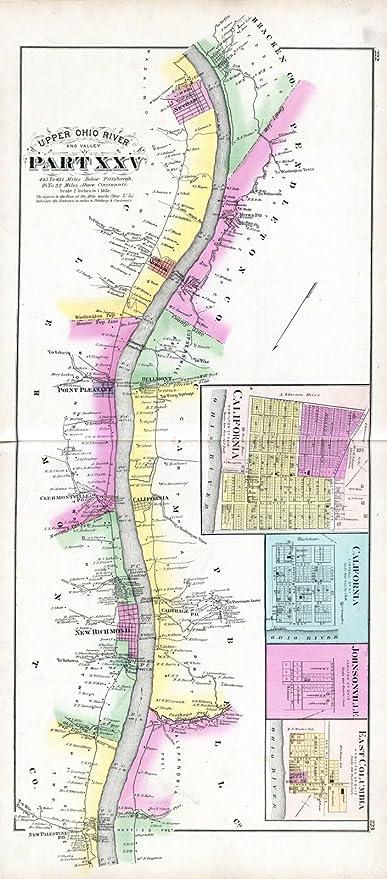 Amazoncom Historic Map Regional Atlas 1877 Upper Ohio River