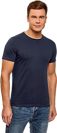 oodji Ultra Hombre Camiseta Básica (Pack de 5): Amazon.es: Ropa y accesorios