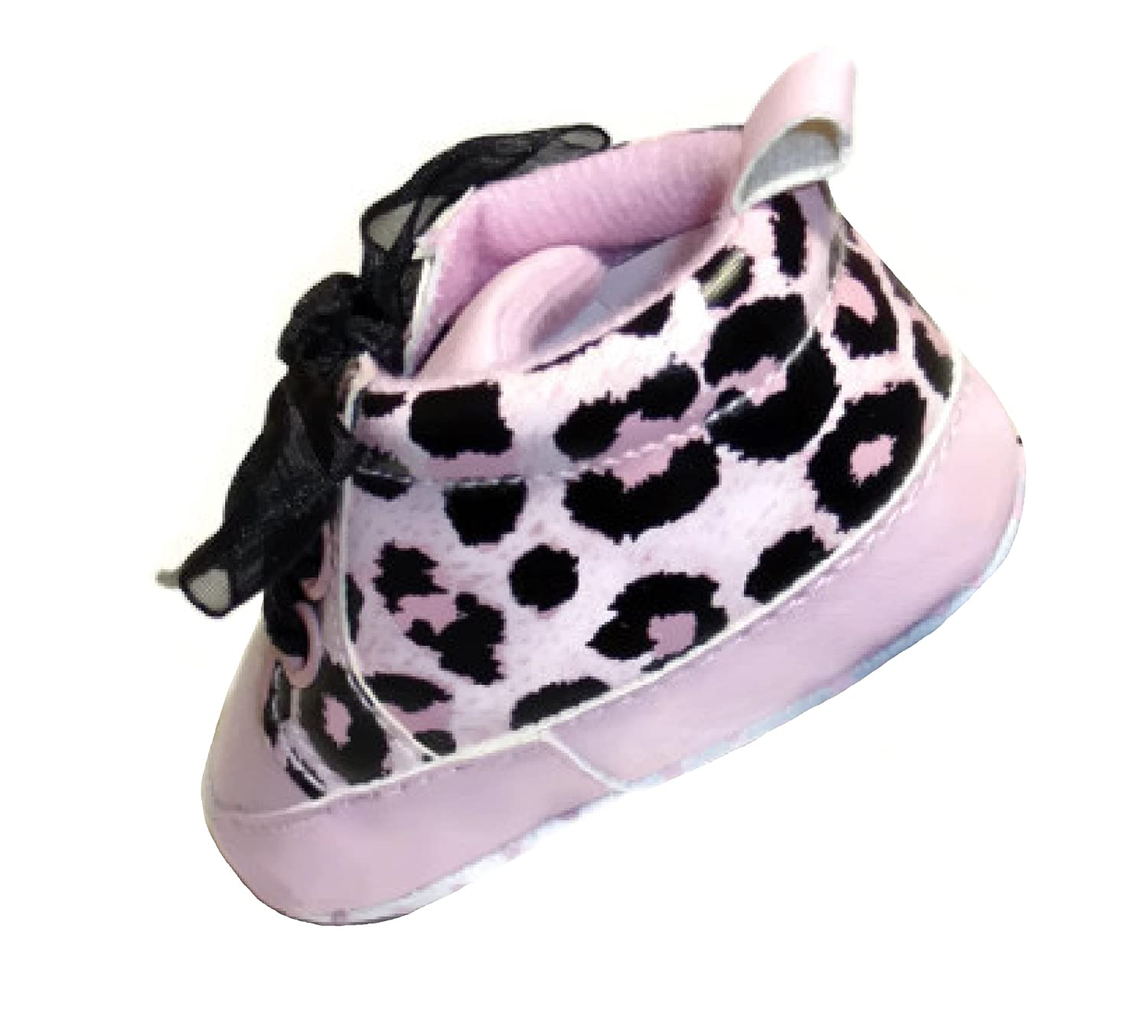 3.75 Insole Baby Girls High Top Shoes with Black Shoe Lace 3-6 Months