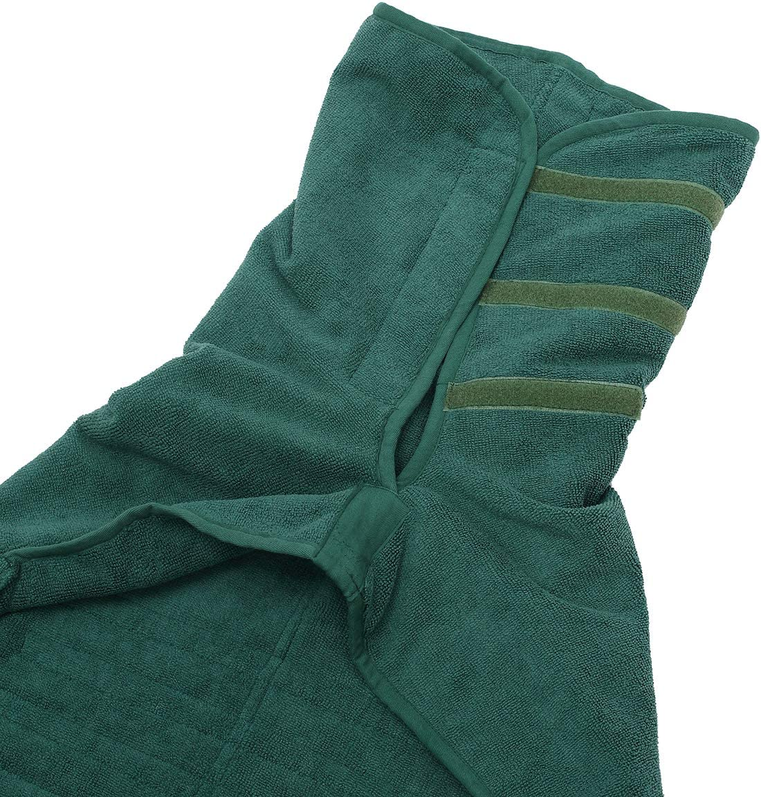 XL Green Pet towel microfibre dog bath robe anxiety relief jacket vest design keep calm wrap vest fit for xs small medium large dogs