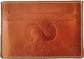 SYNERGO Tarjetero Billetera Minimalista de Hombre para Tarjetas de Credito con Bloqueo RFID Hecho a Mano en Ubrique (Cádiz - España): Amazon.es: Equipaje