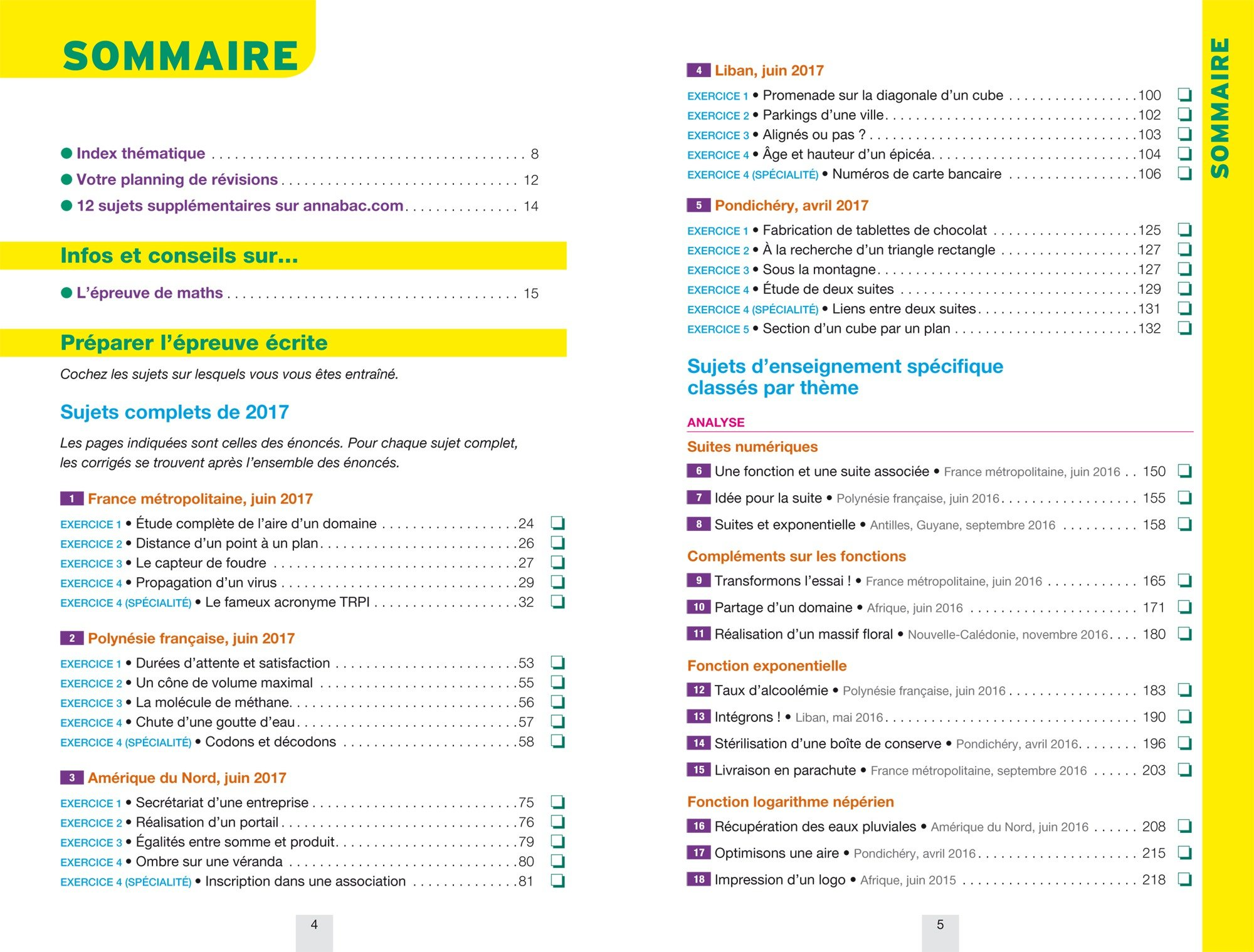 Annales Annabac 2018 Maths Tle S spécifique & spécialité: sujets et corrigés du bac Terminale S: Amazon.es: Hervé Kazmierczak, Christophe Roland: Libros en ...