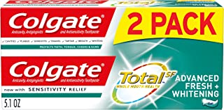 product image for Colgate Total Whitening Toothpaste Gel with Fluoride, Advanced Fresh + Whitening - 5.1 ounce (2 Pack)