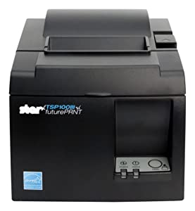 Star Micronics 39463110 Refer to 39464910 Once Depleted, Tsp143L Gray Us, Thermal, Printer, Cutter, Ethernet (LAN), Gray, Internal Power Supply and Cables Included