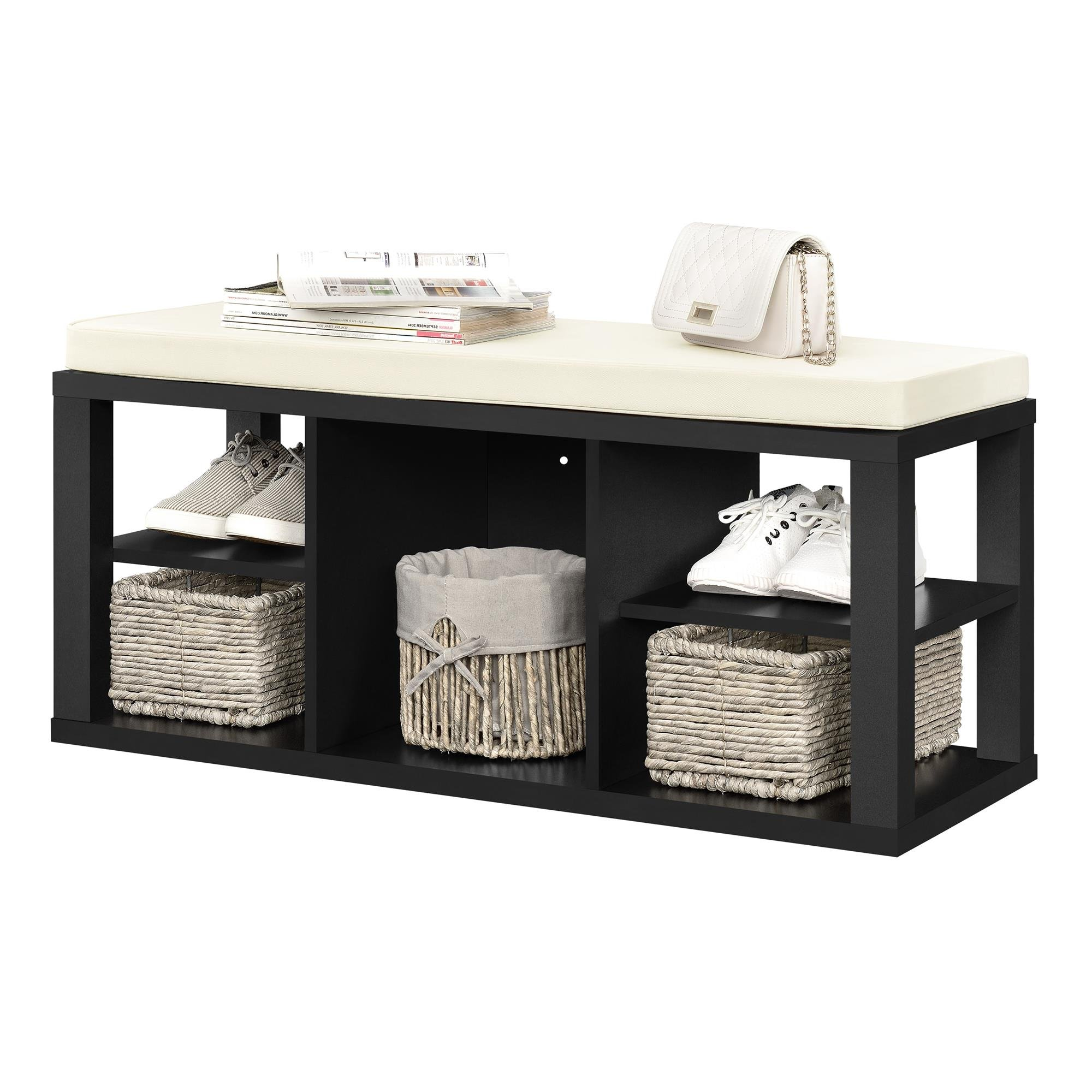 Ameriwood Home Parsons Storage Bench, Black by Ameriwood Home (Image #5)
