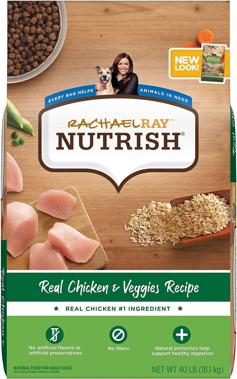 Rachael Ray Nutrish Super Premium Dry Dog Food, Chicken & Veggies Recipe (Packaging May Vary)