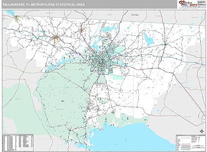 Amazon.com: MarketMAPS Tallahassee, FL Metro Area Wall Map ...