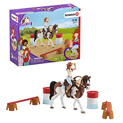 Schleich Horse Club Horse Club Hannah's Western Riding Set 12-piece Educational Playset for Kids Ages 5-12: Toys & Games