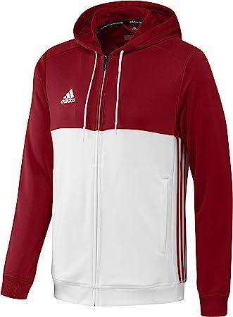 adidas Hooded Flock TT Felpa con zip mars red