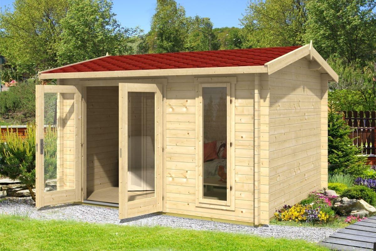 Jardín Casa G174 con soporte suelo – 40 mm listones hogar, superficie: 10,50 m², tejado: Amazon.es: Bricolaje y herramientas