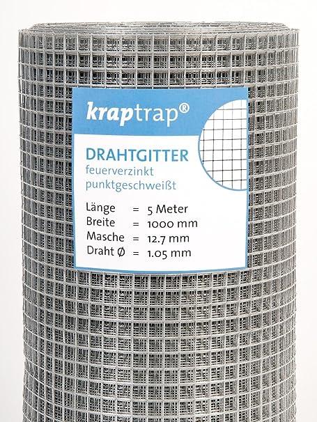 Kraptrap® Volierendraht Käfigdraht Drahtgitter 12x12 Breite 100cm 5m ...