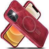 Migeec PU Leather Cases Compatible with iPhone 12 Pro (2020) 6.1 inch Mag-Safe Charging Reinforced Shockproof Slim Hybrid Cas