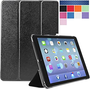 i-Blason Apple iPad Air Case (5th Generation) i-Folio Smart Cover Smart Case- Black