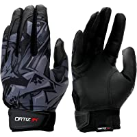 Ortiz34 Graffiti Printed Youth Batting Gloves with Adjustable Wrist Strap and Extra Grip