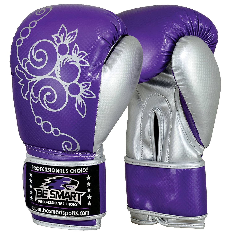 BeSmart Boxing Gloves Kids Junior Youth MMA Sparring Training Kick Boxing Muay Thai Purp