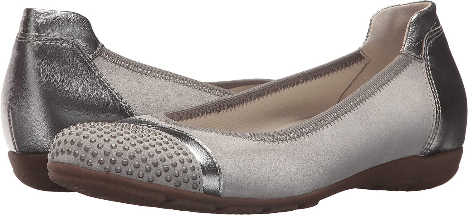 Gabor Womens 84.167 B075MR2JGY 7 B UK|Silver Velour/Luxor Metallic