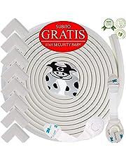 Kit Protector para Esquinas y Bordes | Juego de 8 Cantos Protectores y 1 Rollo, cobertura total de 6,3 m | kit de la Seguridad del niño en la Casa