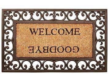 Paillasson Tapis Welcome Goodbye Caoutchouc Coco 76 X 45 Cm