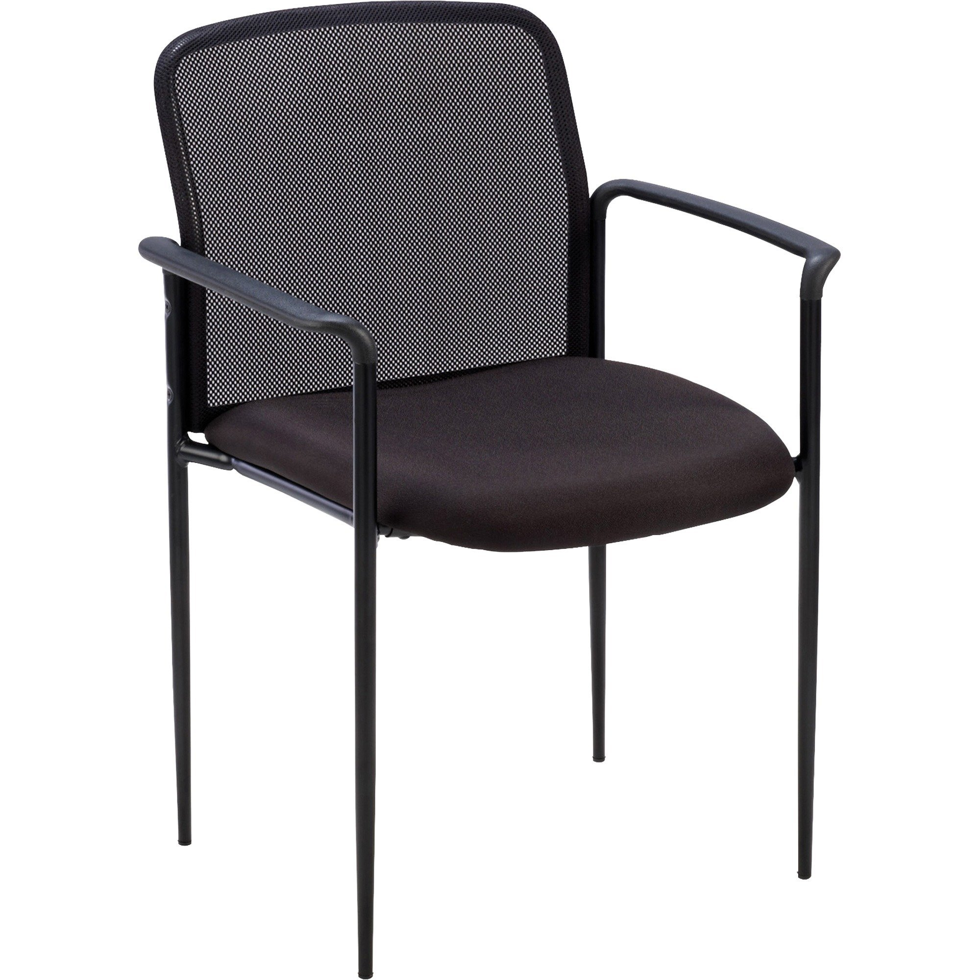 Lorell 69506 Reception Side Chair, w/Arms, 23-3/4''x23-1/2 x33, Black