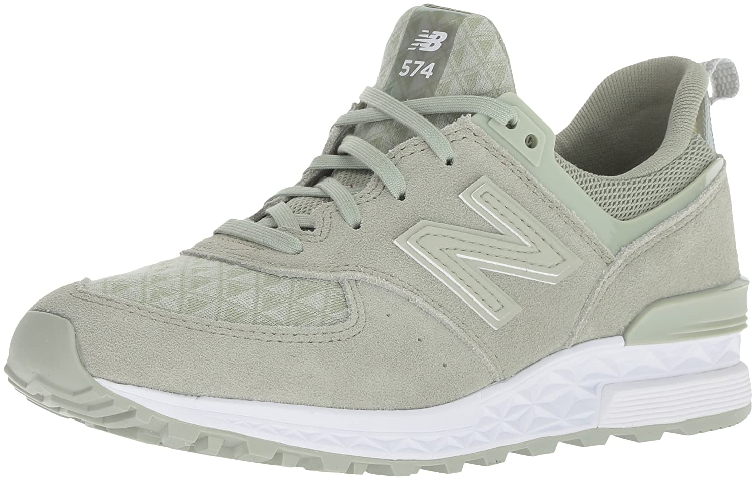 New Balance Women's Ws574 B0751Q8THN 12 B(M) US|Green