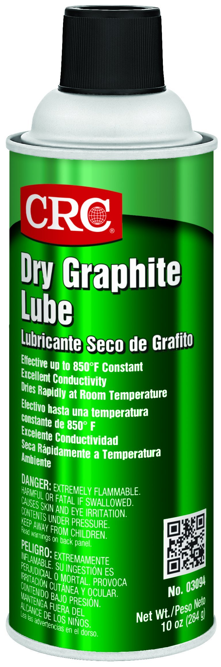 CRC Dry Graphite Lube, 10 oz Aerosol Can, Black product image