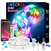 Bluetooth LED Strip Lights 65.6FT - Inscrok LED Light Strips Controlled by Smart Phone APP - Music Sync LED Lights Strip…