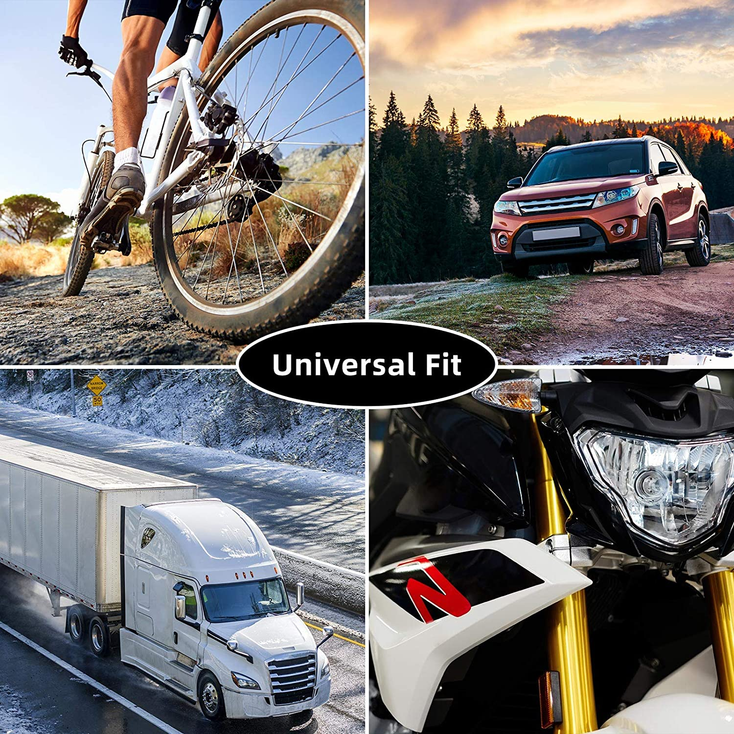Motorcycles 50 PCS SUVs for Cars Bike and Bicycle Tire Valve Caps Universal Stem Covers Trucks
