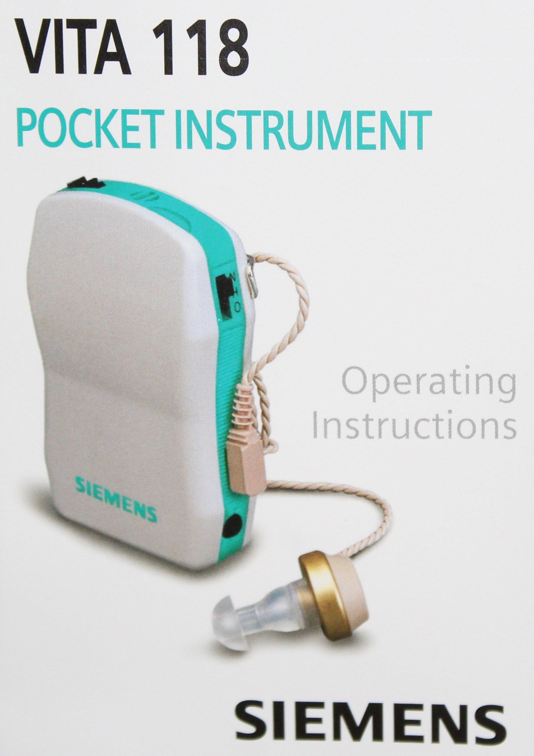 Siemens Vita 118 Pocket Hearing Instrument Hearing Amplifier by Siemens
