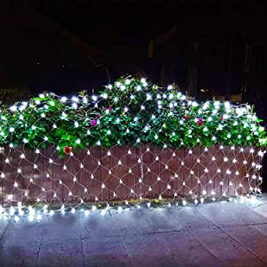 Lomotech 12ft x 5ft 360 LED Connectable Christmas Net ...