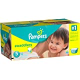 Pampers Swaddlers Disposable Diapers Size 5, 92 Count, GIANT (Designs May Vary)