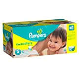 Amazon Price History for:Pampers Swaddlers Diapers Size 5, 92 Count