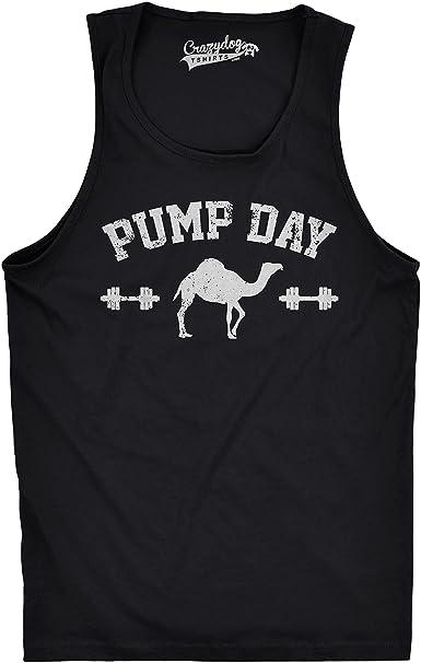 90bdbaec Crazy Dog T-Shirts Mens Pump Day Funny Camel Hump Day Workout Sleeveless Fitness  Tank