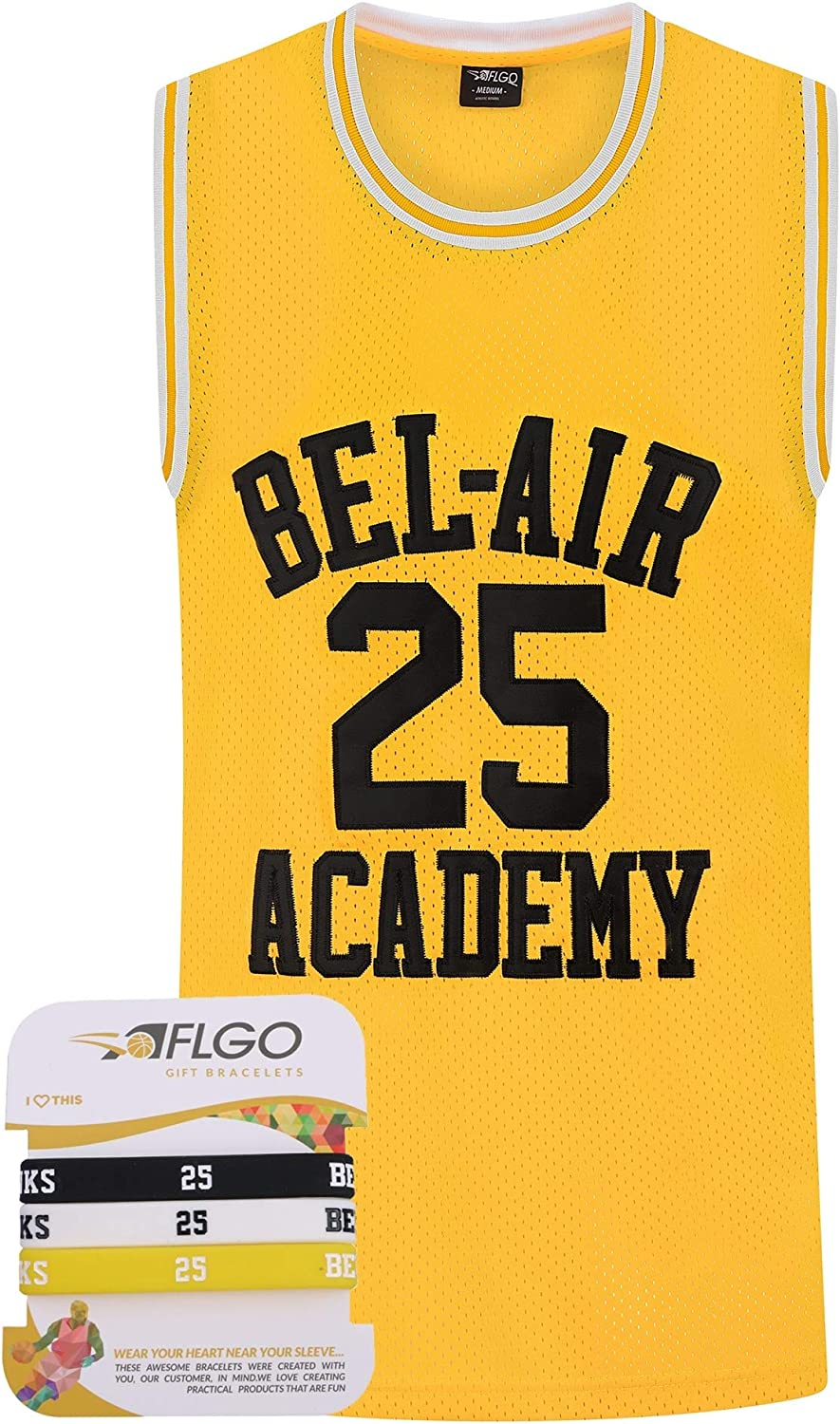 AFLGO Smith Fresh Prince #14 Baseball Bel Air Jersey Yellow Set with Wristbands