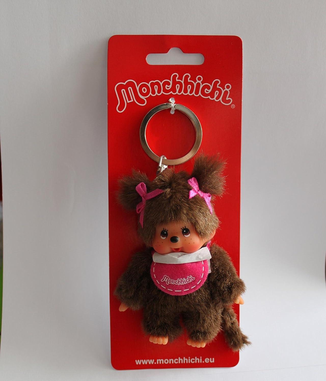 Monchichi Porte-clés Kiki version fille Rose Kinderland