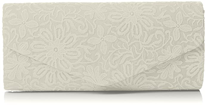 Womens Julia Lace Sequin Clutch Bag Ivory Clutch Swankyswans 559pH