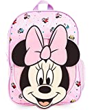 Disney Mochilas Escolares, Material Escolar para Niñas, Mochila Infantil con Minnie Mouse en Diseño 3D, Mochila Rosa de…
