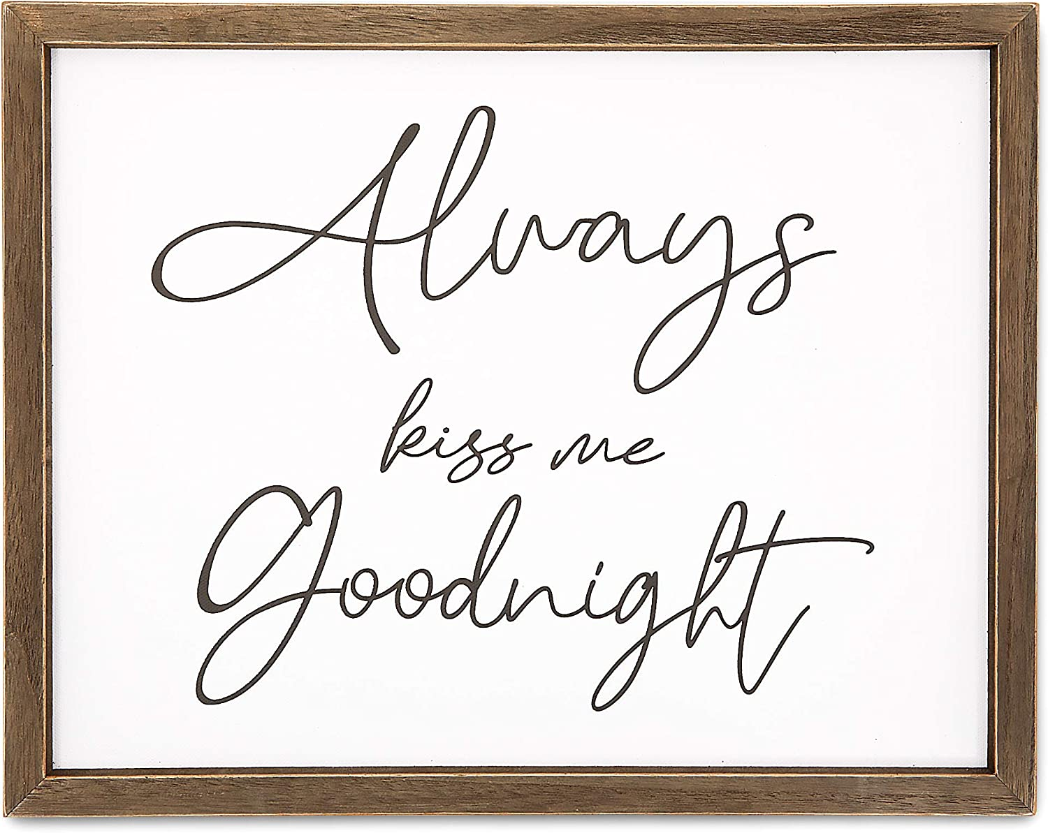 Bedroom Wall Decor for Couples, Always Kiss Me Goodnight (15 x 12 In)